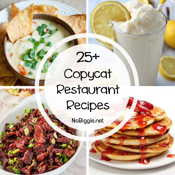 25+ copycat restaurant recipes | NoBiggie.net