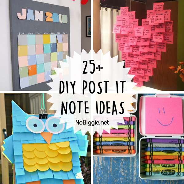 25+ DIY Post it Note ideas | NoBiggie.net