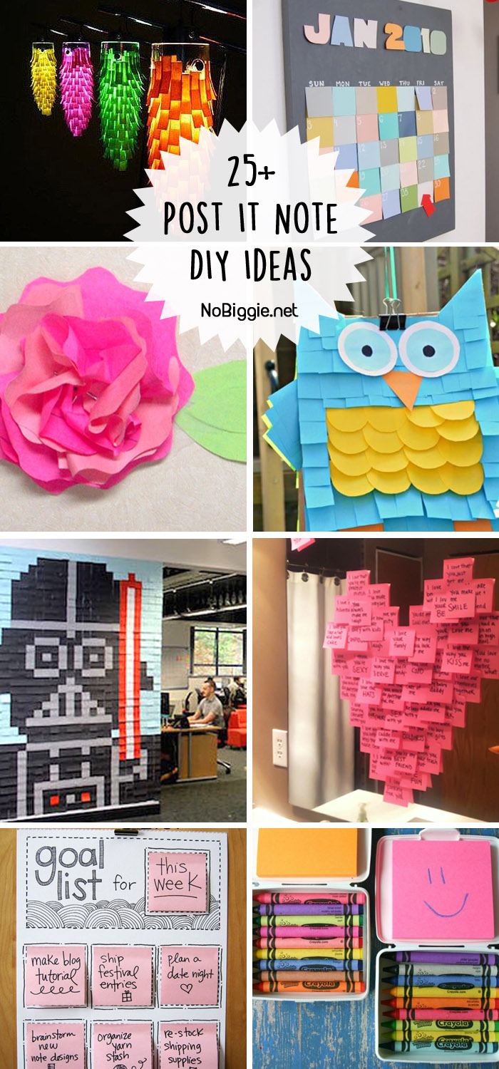 Post It Note DIY Ideas - Post its are no longer for just taking notes! #postitnotes #postits #diypostitideas #postitideas #creativepostitideas
