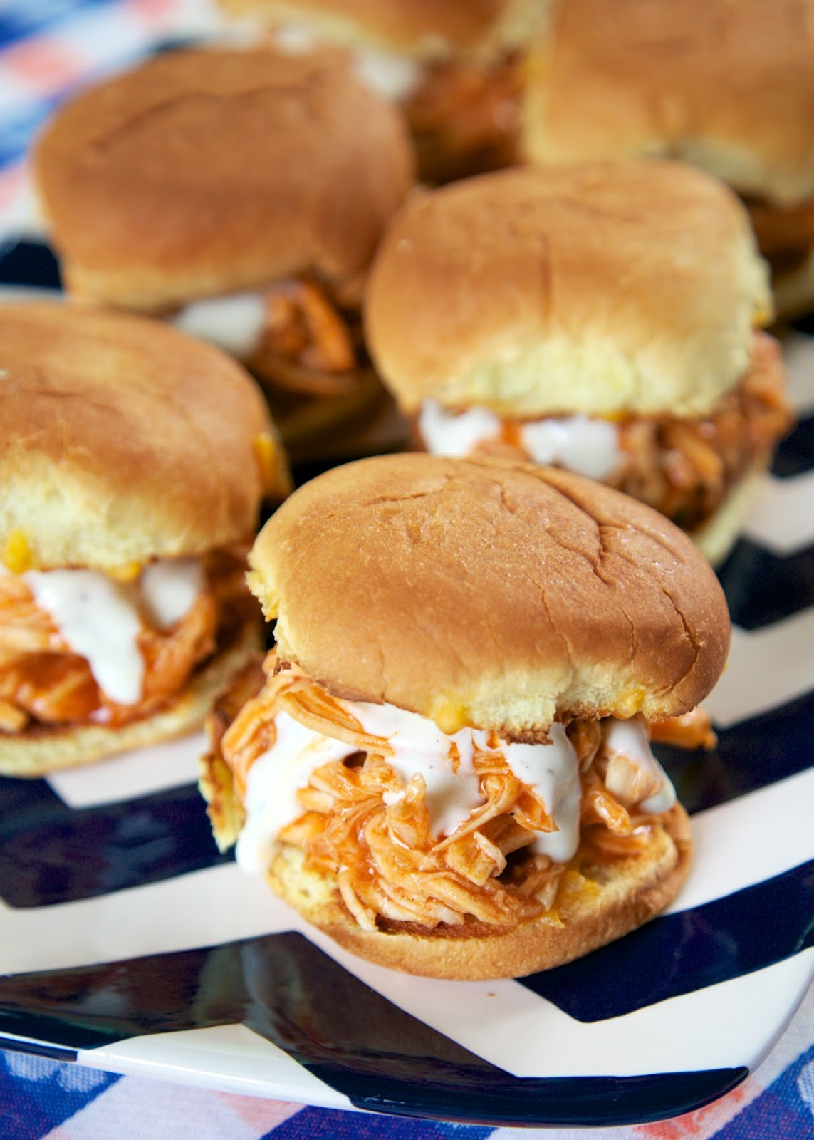 Buffalo Chicken Sliders | 25+ slow cooker appetizer recipes