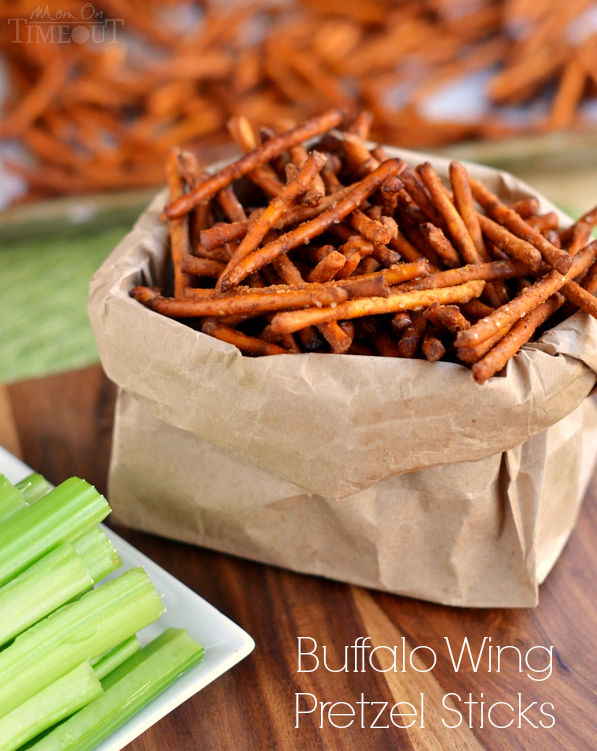 Buffalo Wing Pretzel Sticks | 25+ Pretzel Recipes