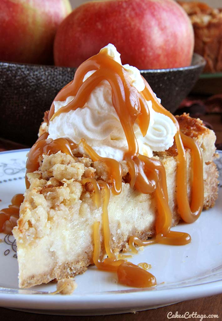 Caramel Apple Crisp | 25+ Cheesecake Recipes