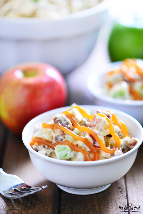 Caramel Apple Pretzel Salad | 25+ Pretzel Recipes