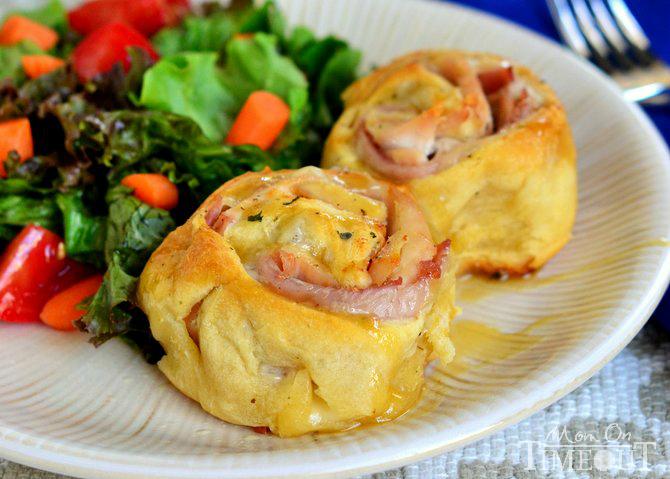 Chicken Cordon Bleu Crescent Rolls | 25+ Leftover Ham Recipes
