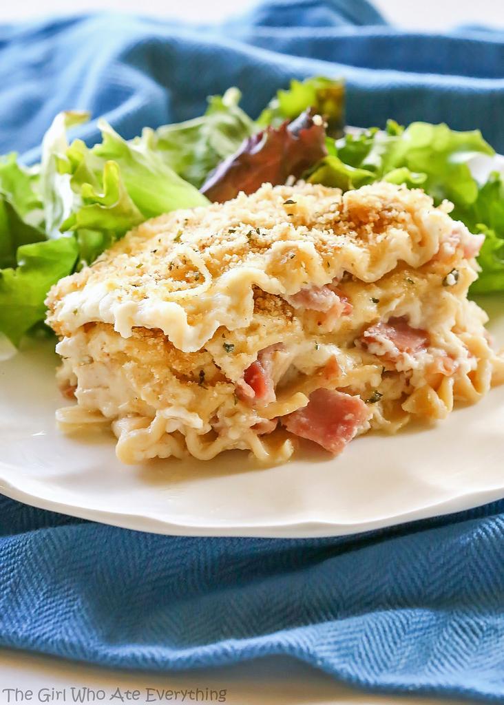 Chicken Cordon Bleu Lasagna | 25+ Leftover Ham Recipes