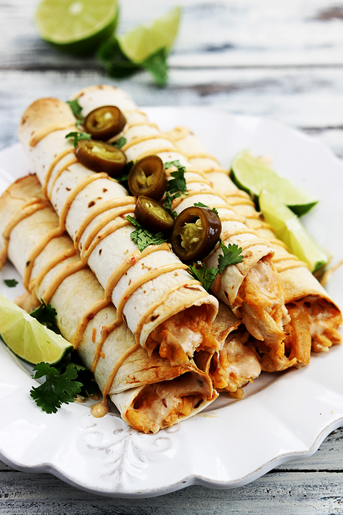 Chipotle Chicken Taquitos | 25+ slow cooker appetizer recipes