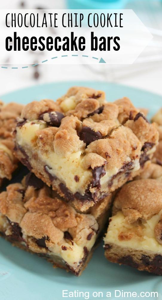 Chocolate Chip Cookie Cheesecake | 25+ Cheesecake Recipes