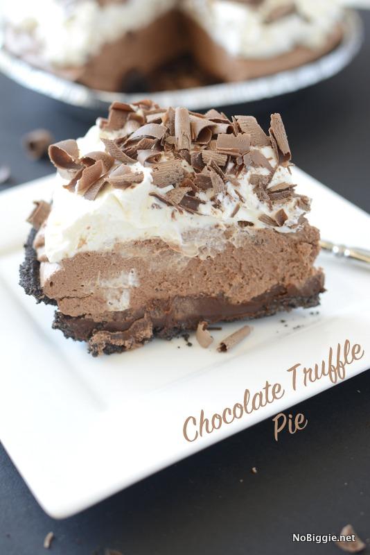 Chocolate Truffle Pie | 25+ No Bake Desserts