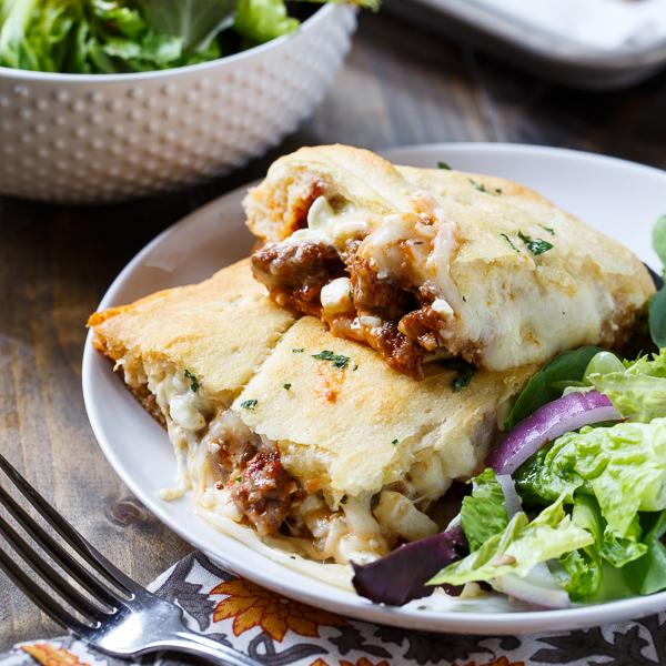 Crescent Lasagna   25+ Lasagna Recipes