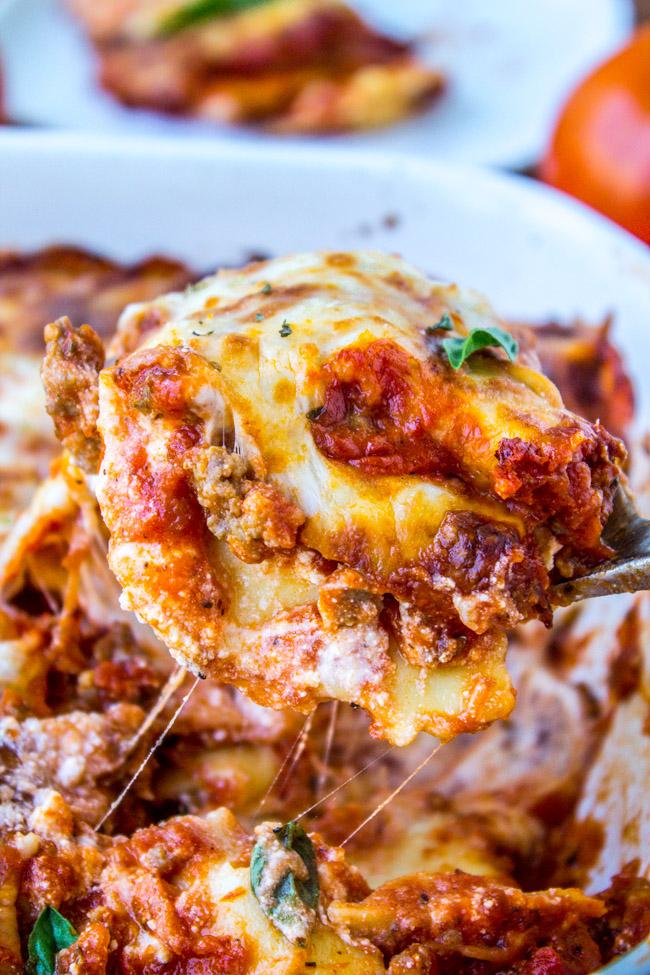 Easy Cheesy Ravioli Lasagna   25+ Lasagna Recipes