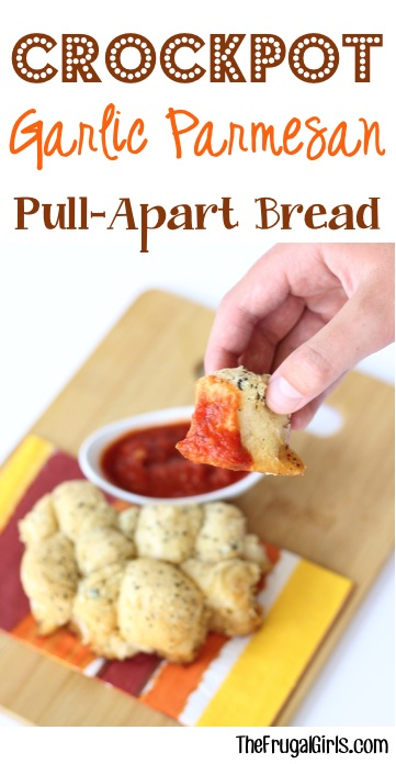 Garlic Parmesan Pull Apart Bread | 25+ slow cooker appetizer recipes