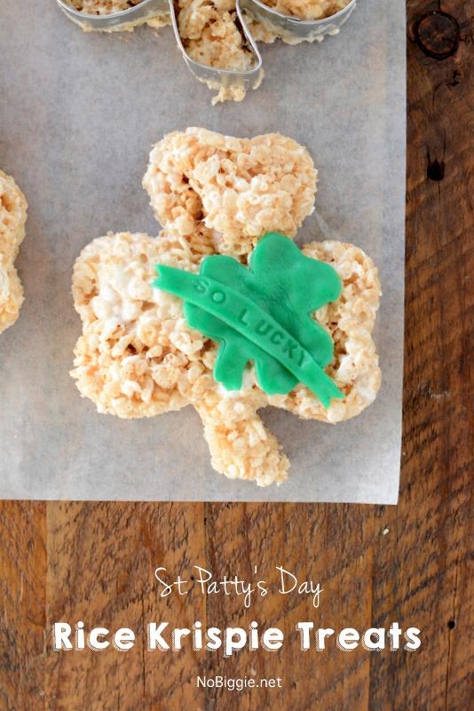 Giant St. Patty's Day Rice Krispie Treats | NoBiggie.net
