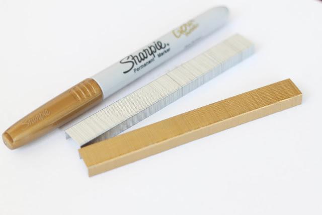 DIY Gold Staples | 25+ Sharpie Crafts