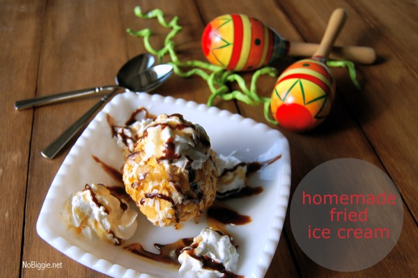 Homemade Fried Ice Cream | 25+ No Bake Desserts