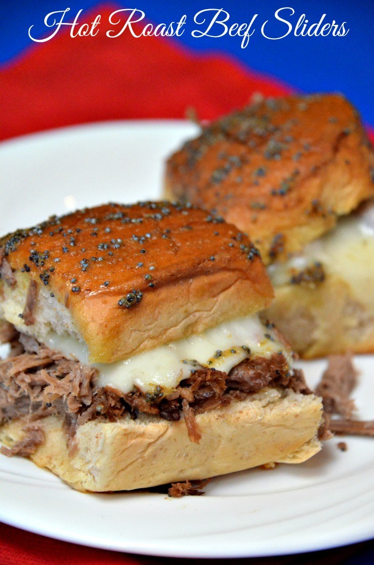 Hot Roast Beef Sliders | 25+ slow cooker appetizer recipes