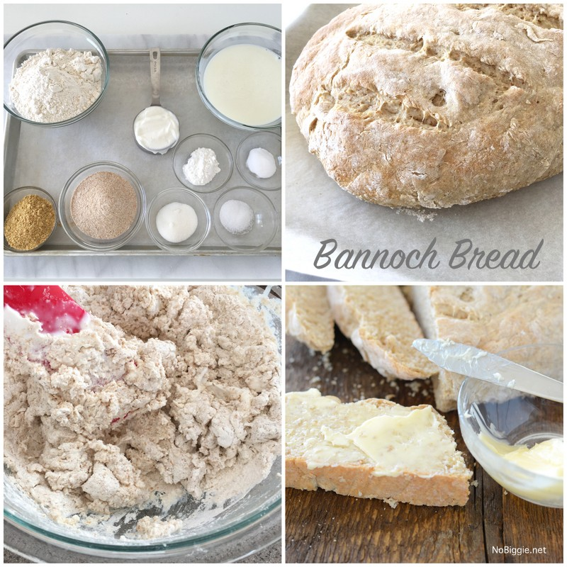 How to make bannoch bread (no yeast!)   NoBiggie.net