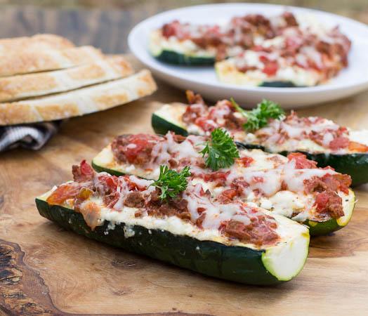 Lasagna Zucchini Boats   25+ Lasagna Recipes