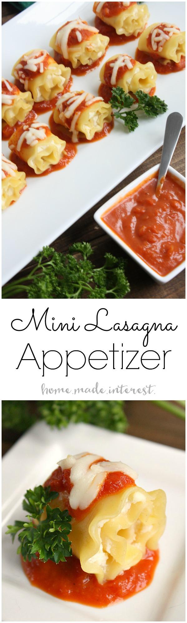 Mini Lasagna Rolls   25+ Lasagna Recipes