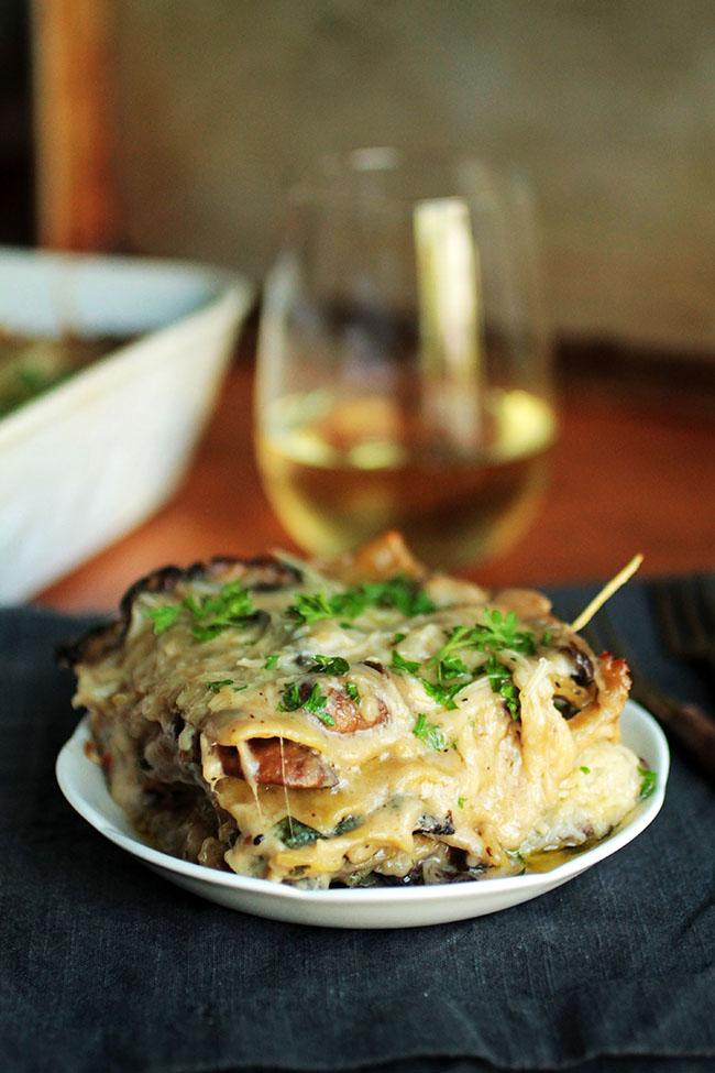 Mushroom and Spinach Lasagna   25+ Lasagna Recipes