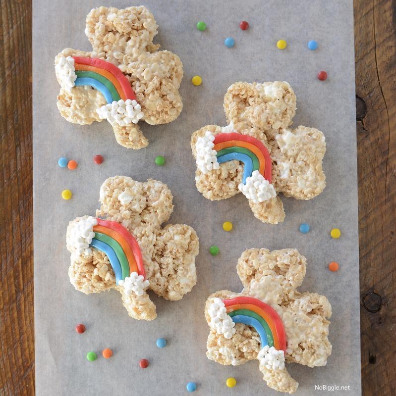 Rainbow Rice Krispie Treats | NoBiggie.net