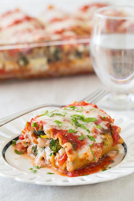 Roasted Vegetable Lasagna Roll Ups   25+ Lasagna Recipes