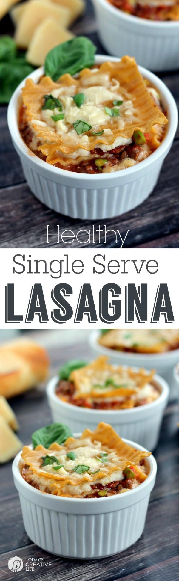 Single Serve Healthy Lasagna   25+ Lasagna Recipes