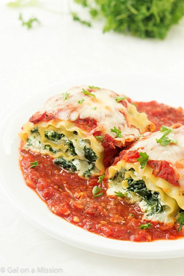 Spinach Lasagna Roll-ups   25+ Lasagna Recipes