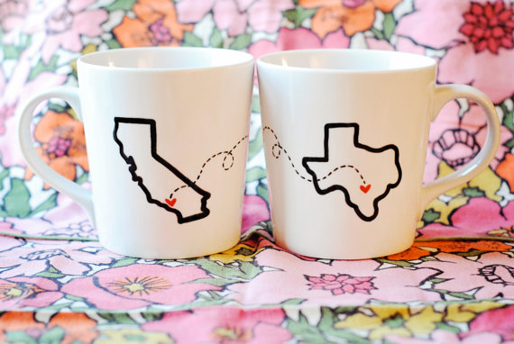 DIY State or Country Heart mugs | 25+ Sharpie Crafts