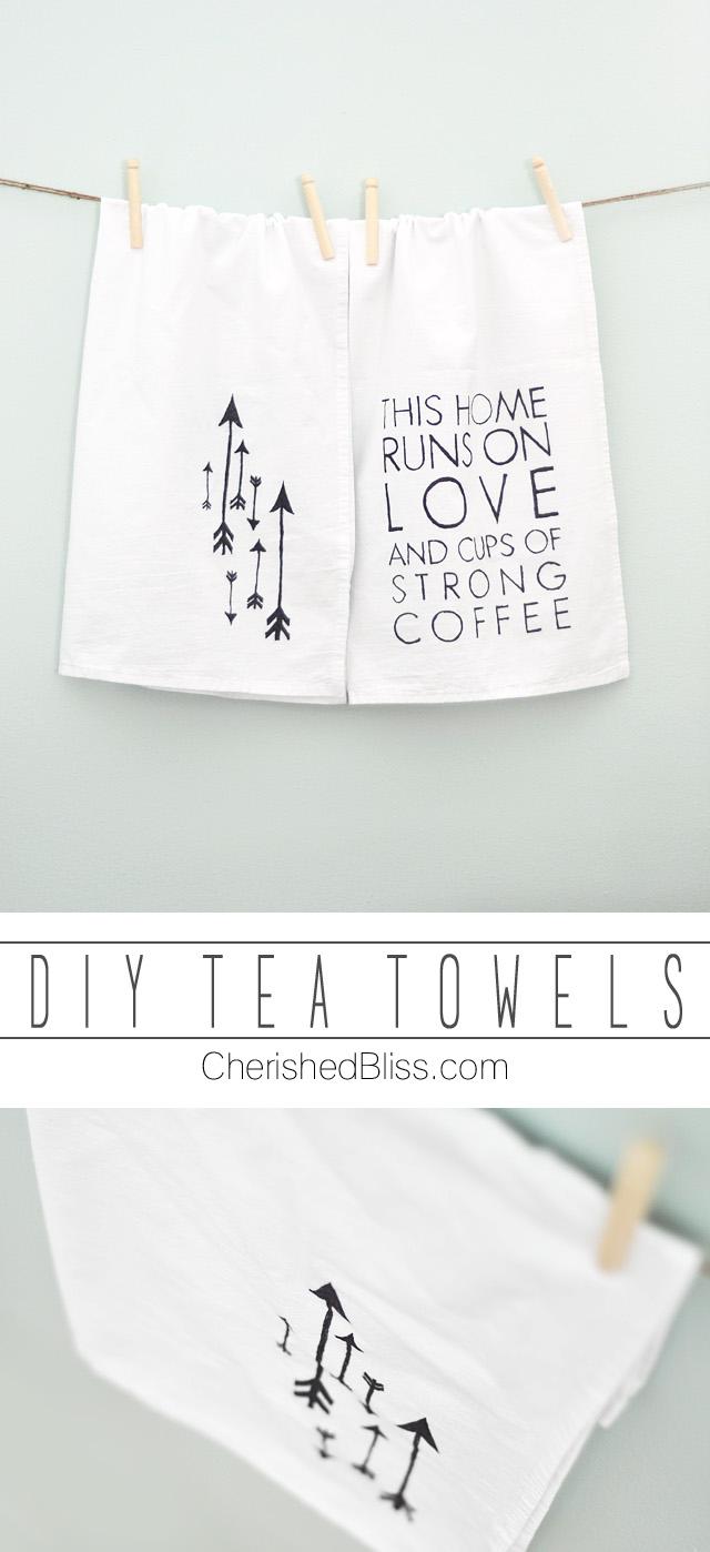 DIY Tea Towels | 25+ Sharpie Crafts