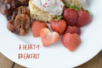 A heart-y breakfast