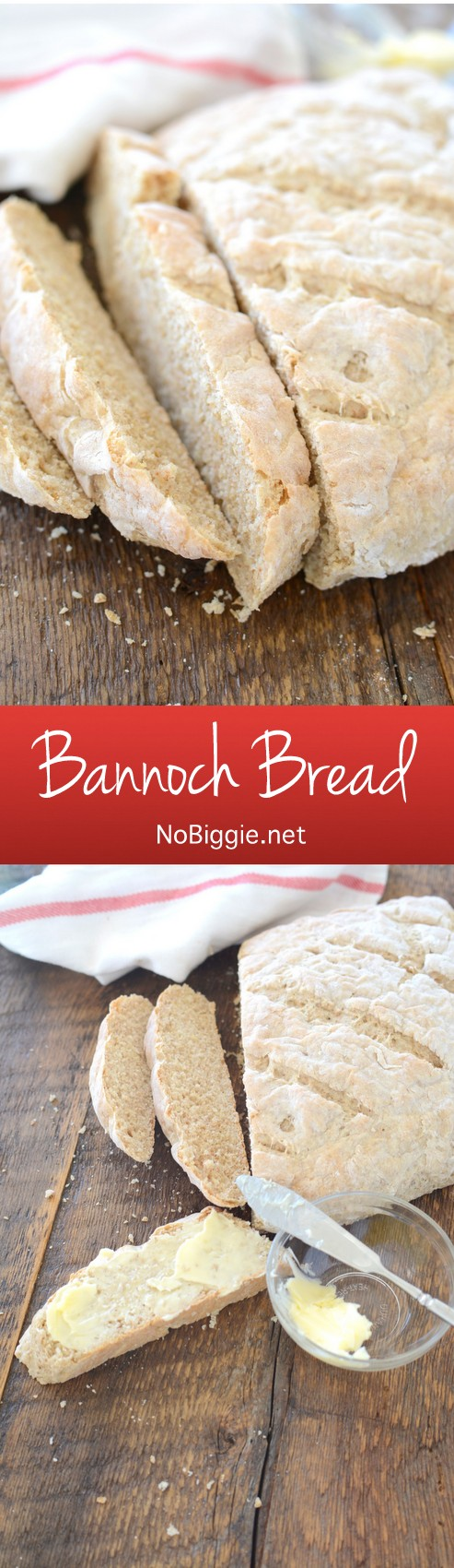 Bannoch Bread - It\'s so easy...and so delicious! #bread #bannochbread #breadrecipes #homemadebread