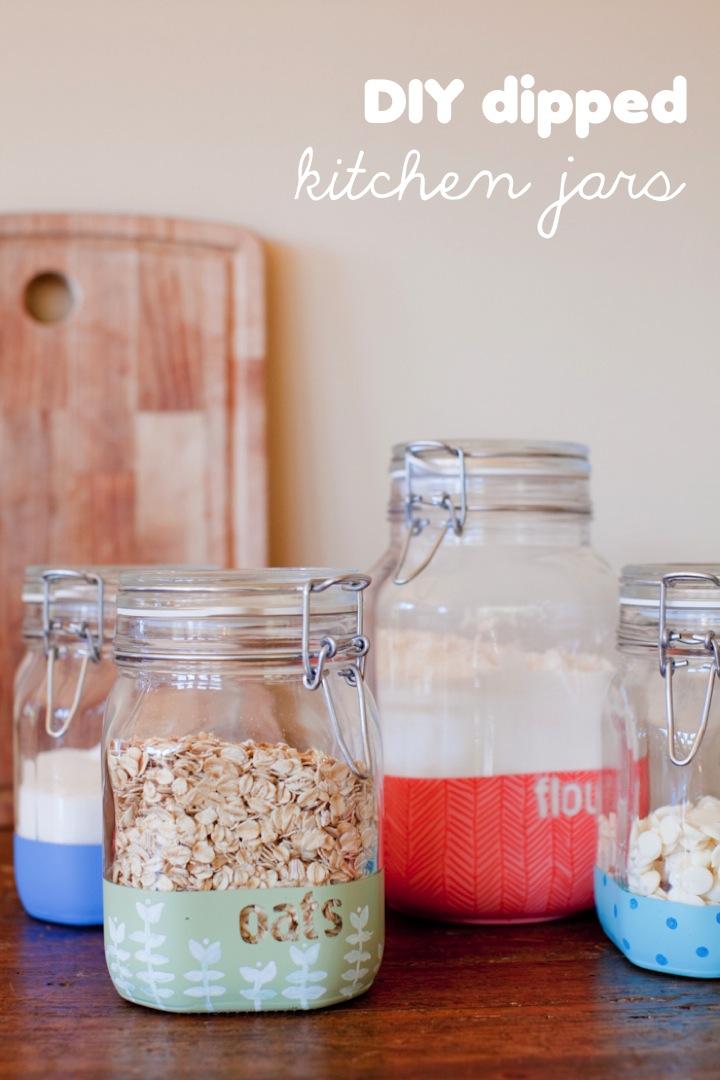 DIY dipped kitchen jars | 25+ Sharpie Crafts