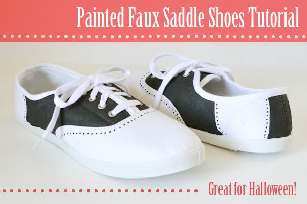 DIY faux saddle shoes | 25+ Sharpie Crafts