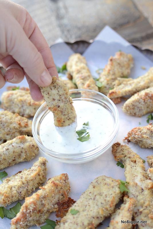 golden Baked Parmesan Chicken Strips | NoBiggie.net