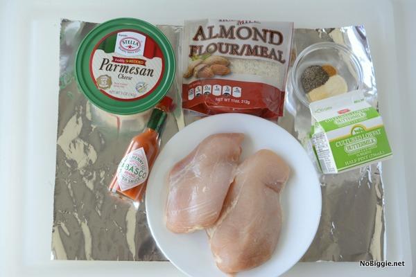 ingredients for Baked Parmesan Chicken Strips | NoBiggie.net