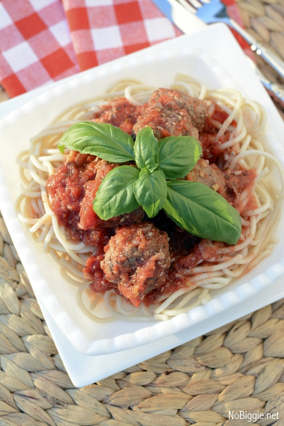 gluten free meatballs and spaghetti | NoBiggie.net