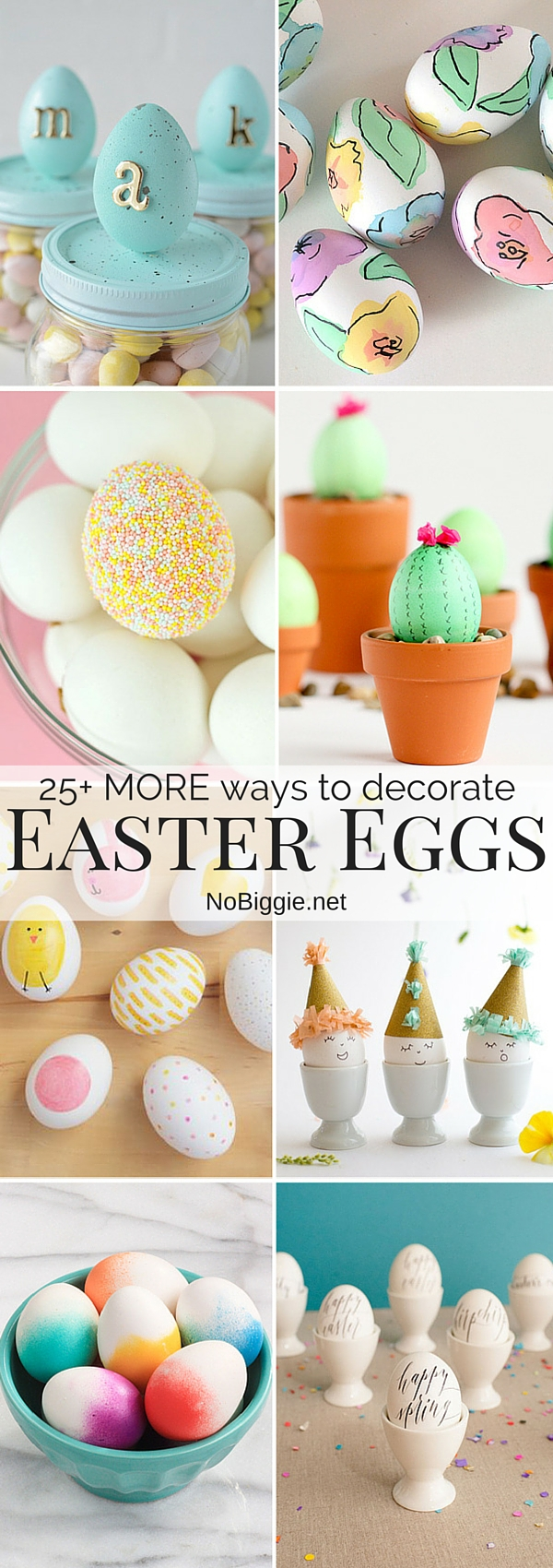 25+ MORE Ways to decorate Easter Eggs! #Easter #EasterEggs #CreativeEasterEggs #DecorateEasterEggs