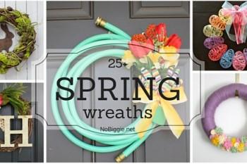 25+ Spring wreaths