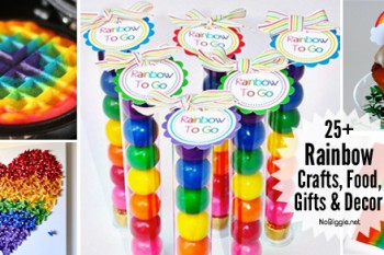 25+ Rainbow Crafts, Food and more