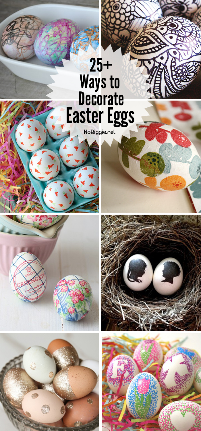 25+ ways to decorate Easter eggs | NoBiggie.net