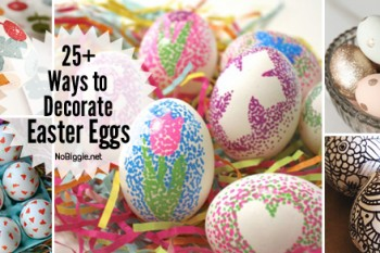 25+ ways to decorate Easter Eggs