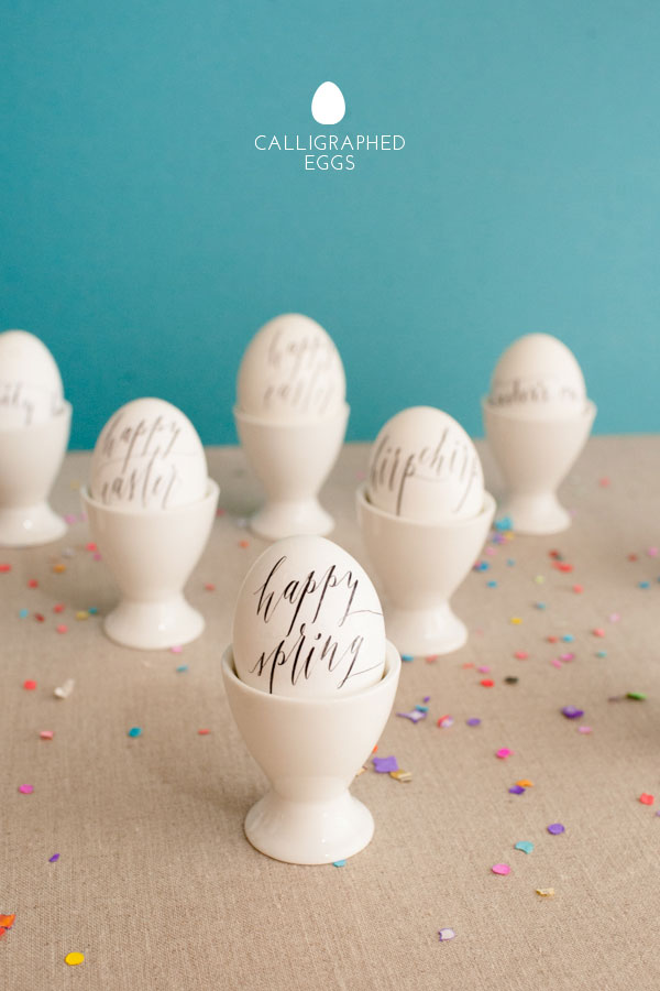 Calligraphed Eggs | 25+ MORE ways to decorate Easter Eggs