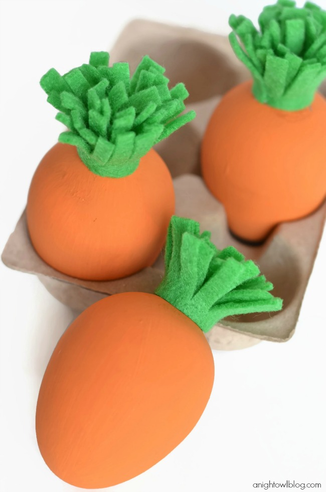 Carrot Eggs | 25+ MORE ways to decorate Easter Eggs