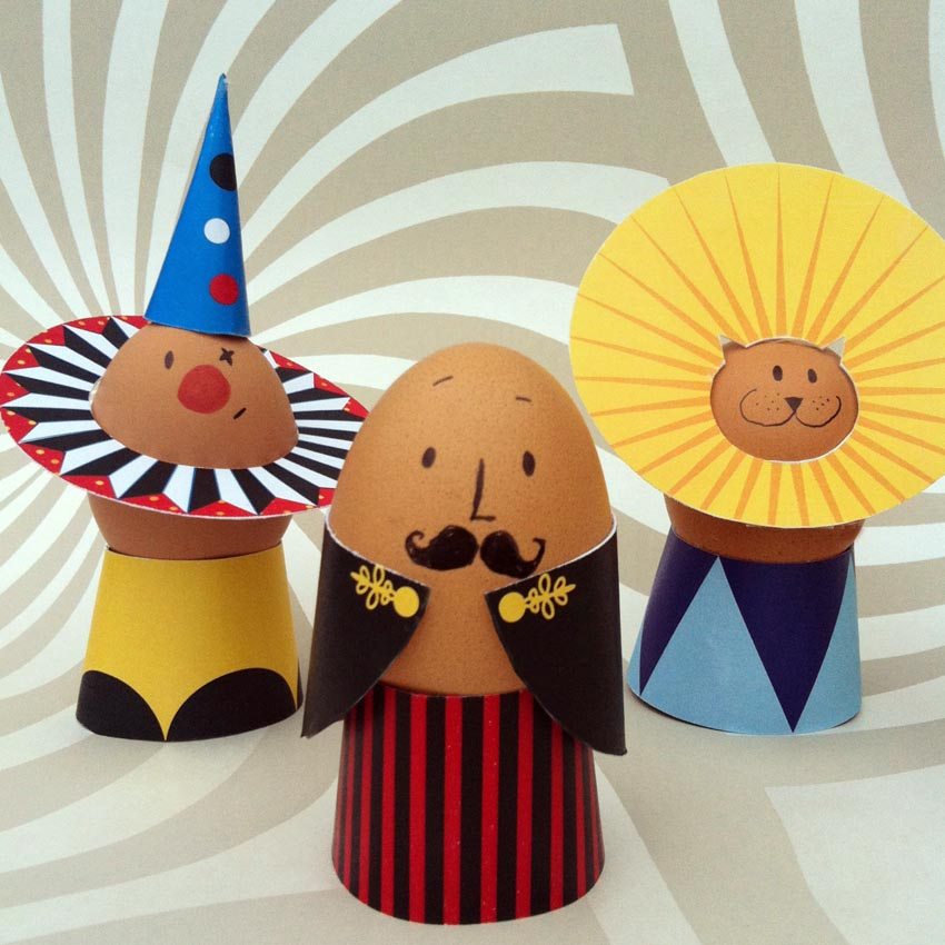 Circus Eggs | 25+ MORE ways to decorate Easter Eggs
