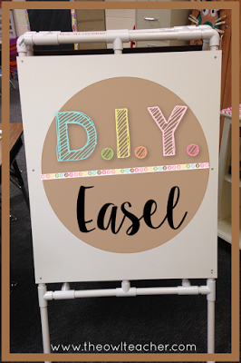 DIY PVC Easel | 25+ things to make with PVC Pipe