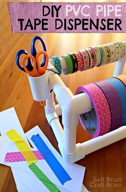 DIY PVC Pipe Tape Dispenser | 25+ things to make with PVC Pipe