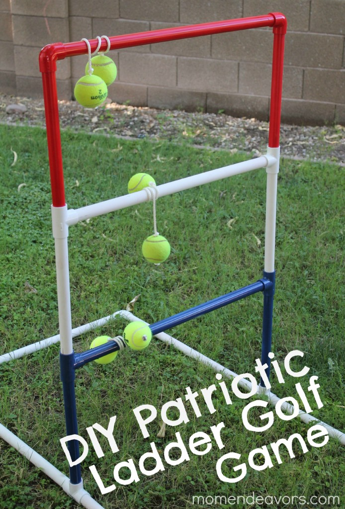 DIY Patriotic Ladder Golf | 25+ things to make with PVC Pipe