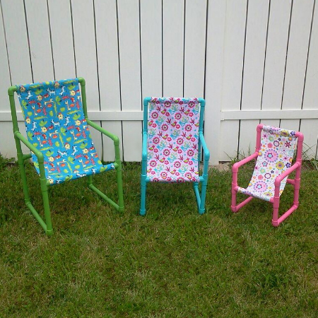 Easy PVC pipe kiddies garden chair | 25+ things to make with PVC Pipe