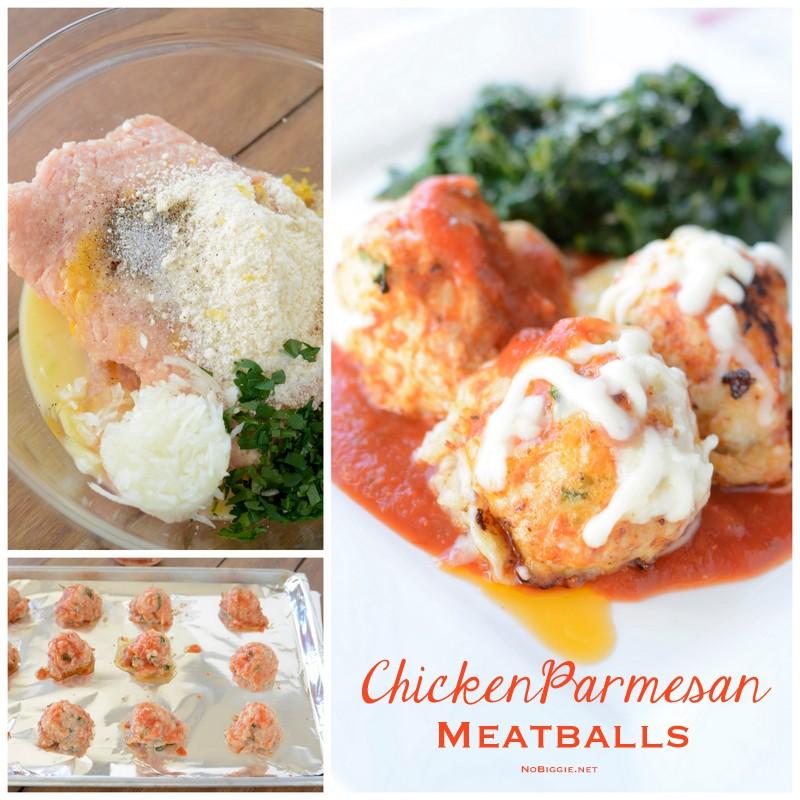 Easy chicken parmesan meatballs | NoBiggie.net