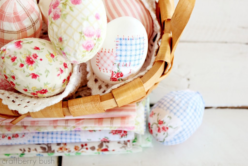 Fabric Covered Eggs | 25+ MORE ways to decorate Easter Eggs